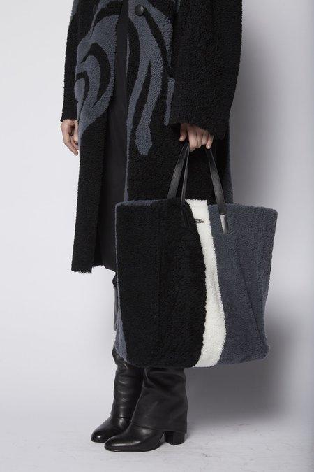Anne Vest Tricolor Shearling Bag