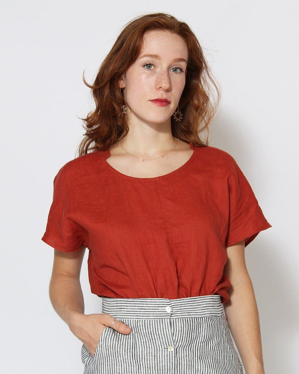 Sugar Candy Mountain Allegra Top in Brick