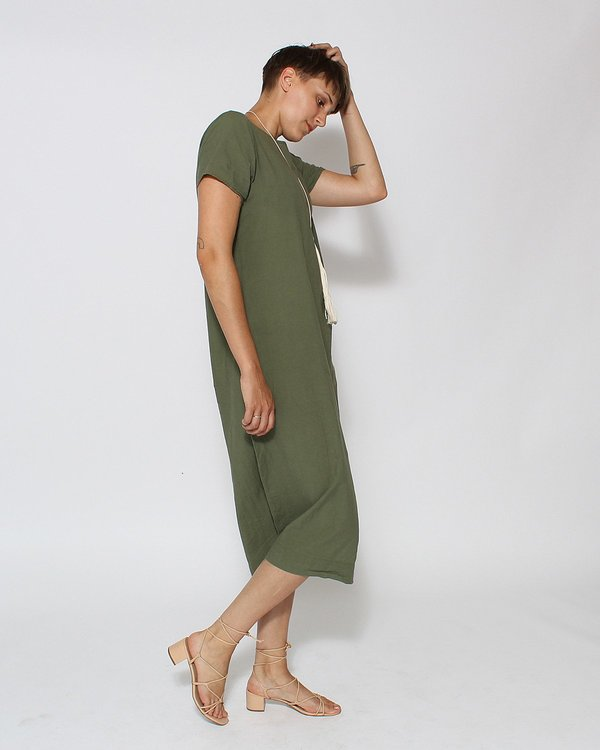 Uzi NYC Tee Dress in Sage