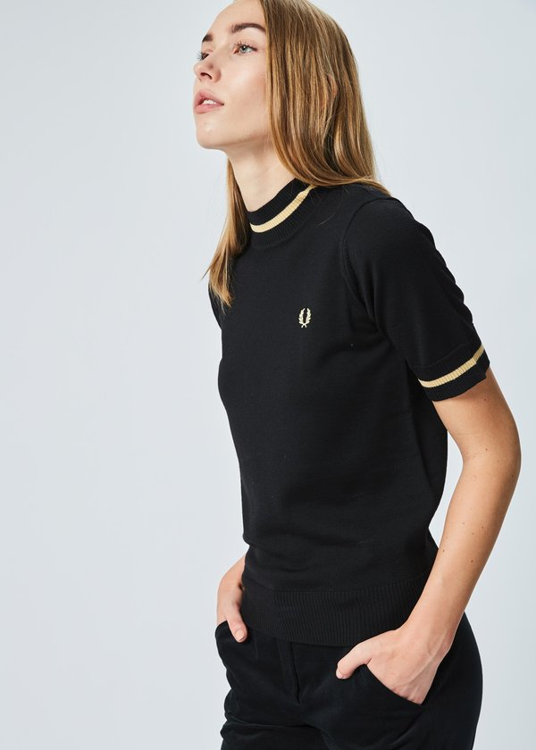 Fred Perry Short Sleeve Mock Neck Sweater Garmentory