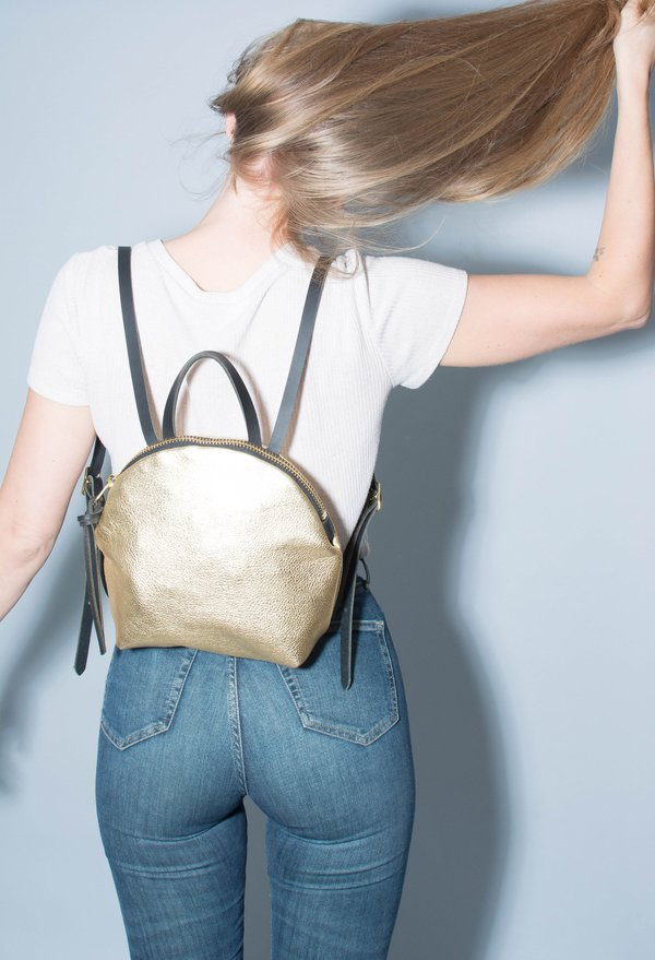 Eleven Thirty Shop Anni Mini Backpack - Gold