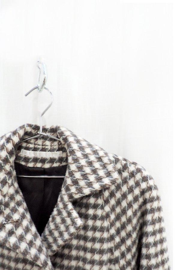 Moth Oddities Vintage 1980's Cream Houndstooth Coat