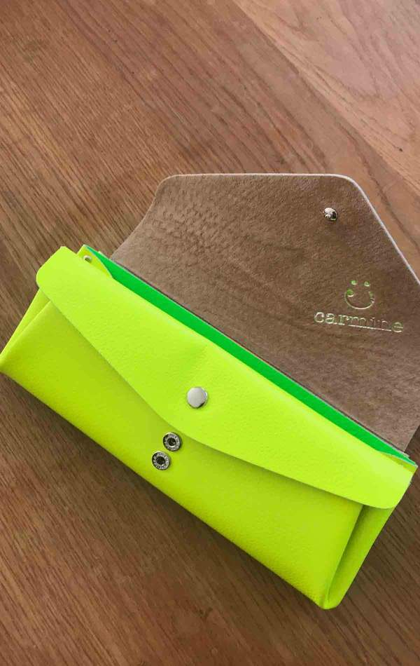 Carmine Large Clutch Wallet - Fluorescent Yellow