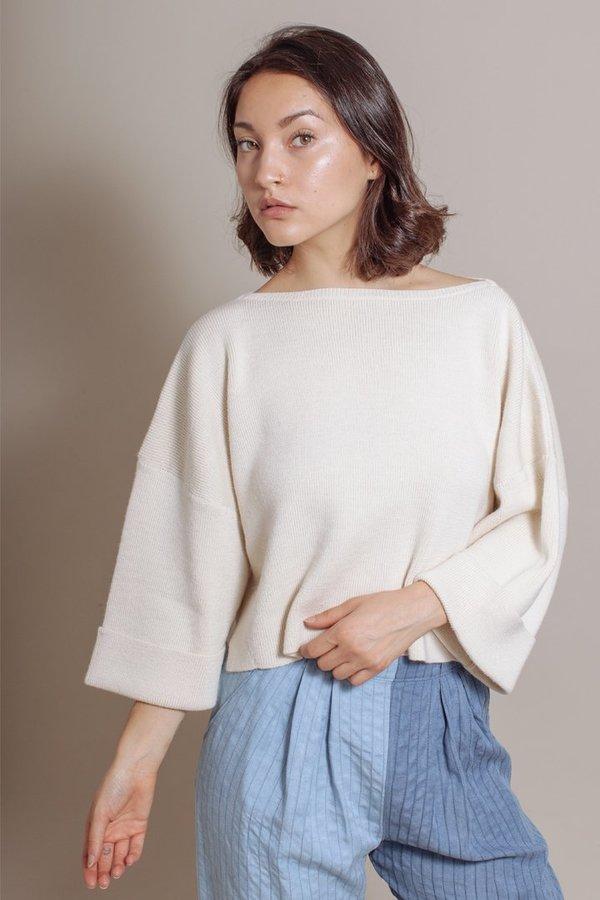 Mara Hoffman Eva Sweater in Cream