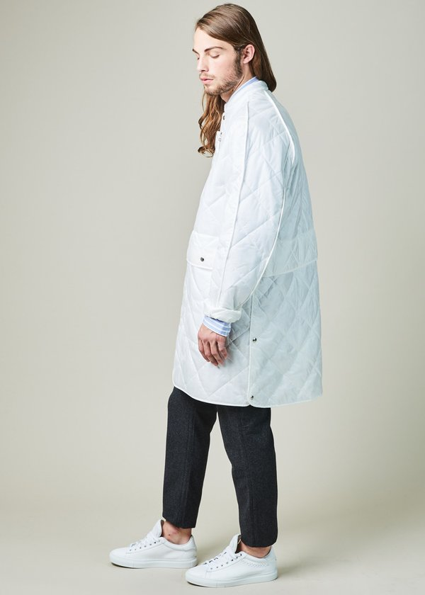 OAMC Quilted Squad Coat - OFF WHITE