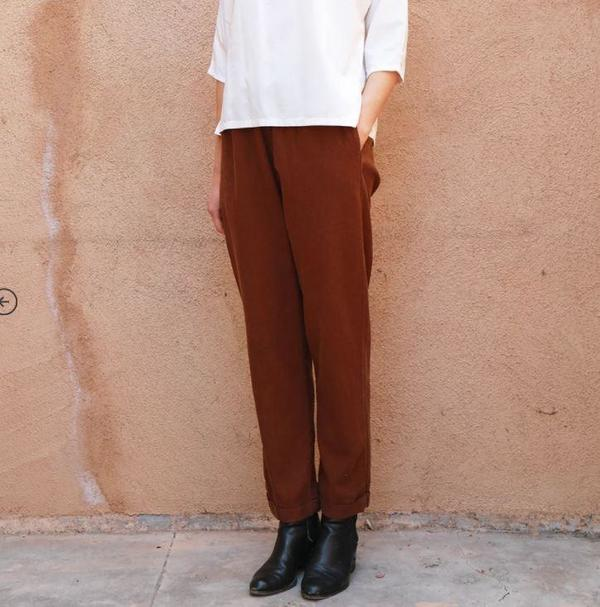 Me and Arrow Cuff Pants - Canyon Brown