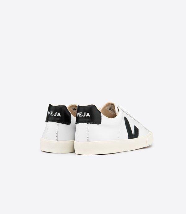 UNISEX Veja Esplar Leather Low Logo White Black Sneaker