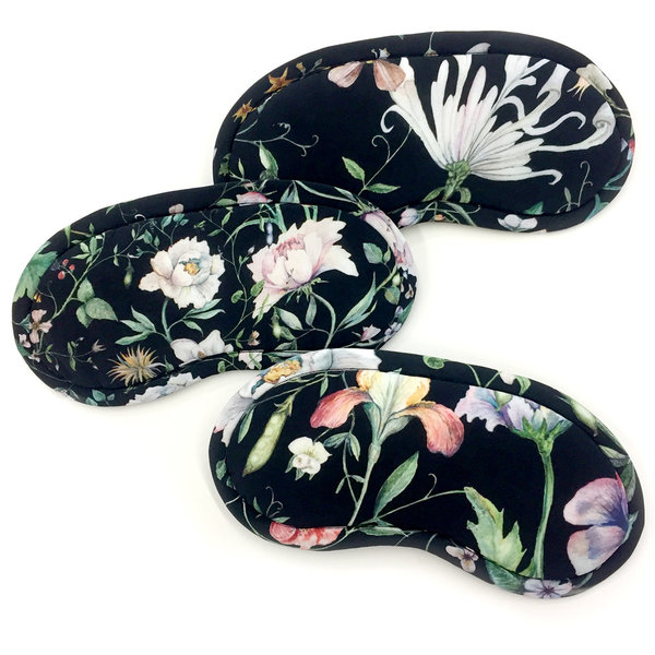 Strathcona Sweet Pea Black Eye Mask - Online Only