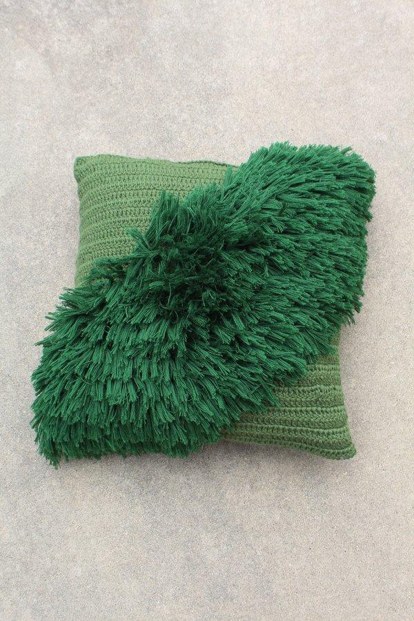 Artist Alpaca Handmade Alta Fringe Pillow Pine