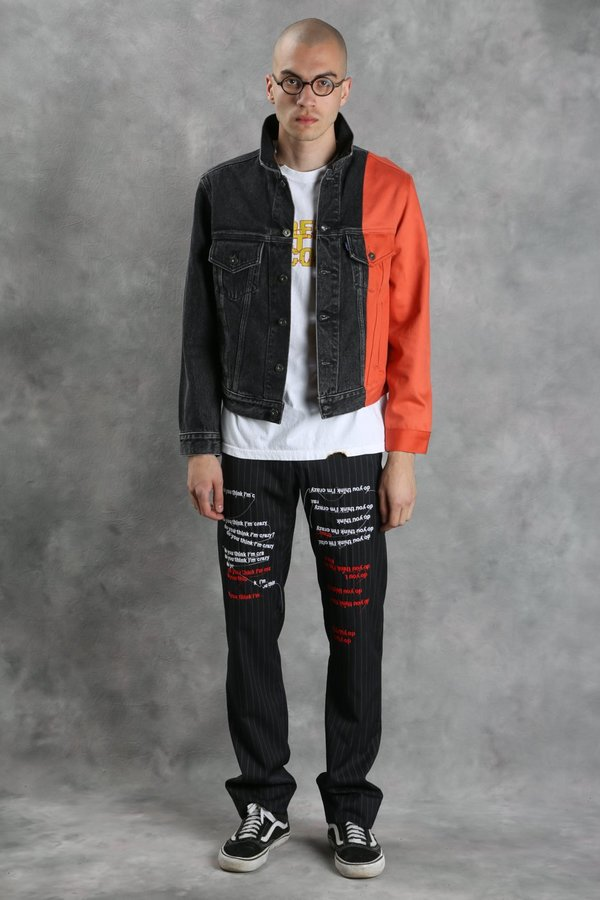 Off White X Levi S Splice Denim Jacket Garmentory