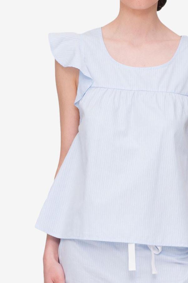 The Sleep Shirt Flounce Top and Ruffle Short Set