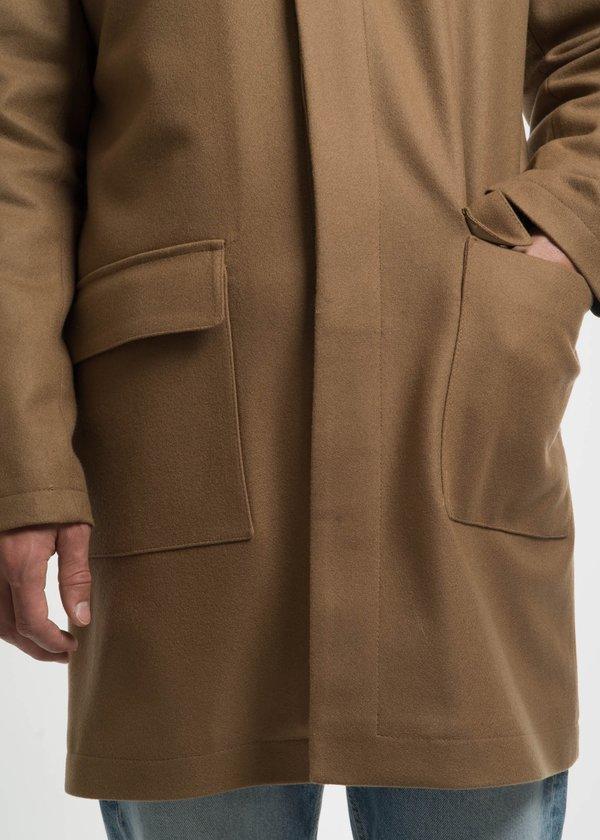 Harmony Camel Mathieu Hooded Wool Coat
