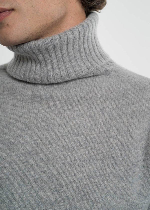 Harmony Grey Windy Turtleneck Knit Sweater