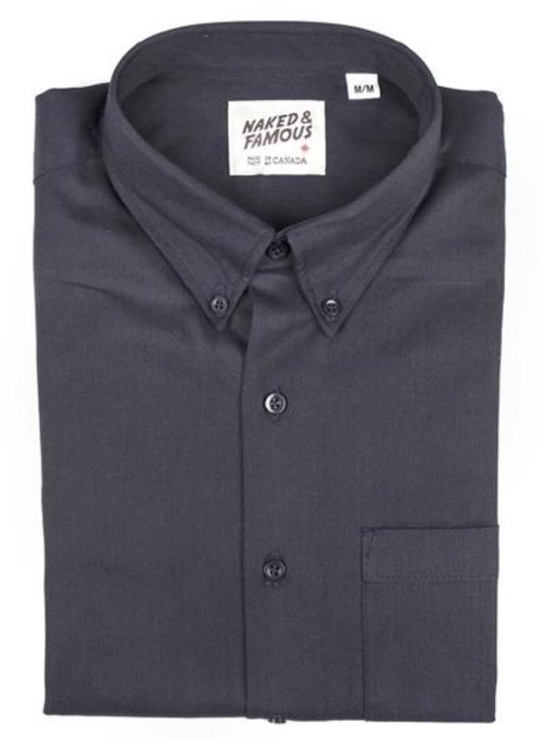 Naked & Famous Oxford Regular Shirt - Navy