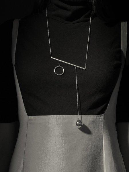 Ladies & Gentlemen Balance Bar Necklace - Silver