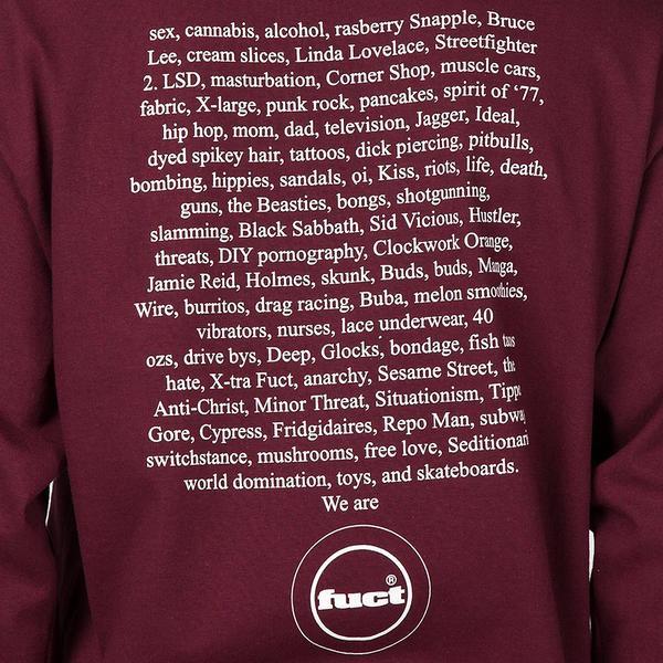 FUCT SSDD Fuct Advertisement 1991 Long Sleeve T-Shirt - Burgundy
