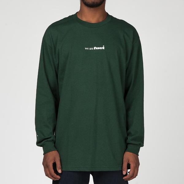 FUCT SSDD FUCT ADVERTISEMENT 1991 LONG SLEEVE T-SHIRT / FOREST GREEN