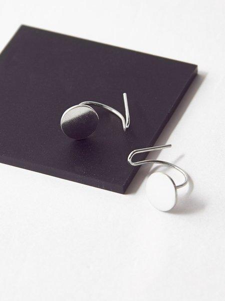 Ladies & Gentlemen Disc Ear Climbers - Silver