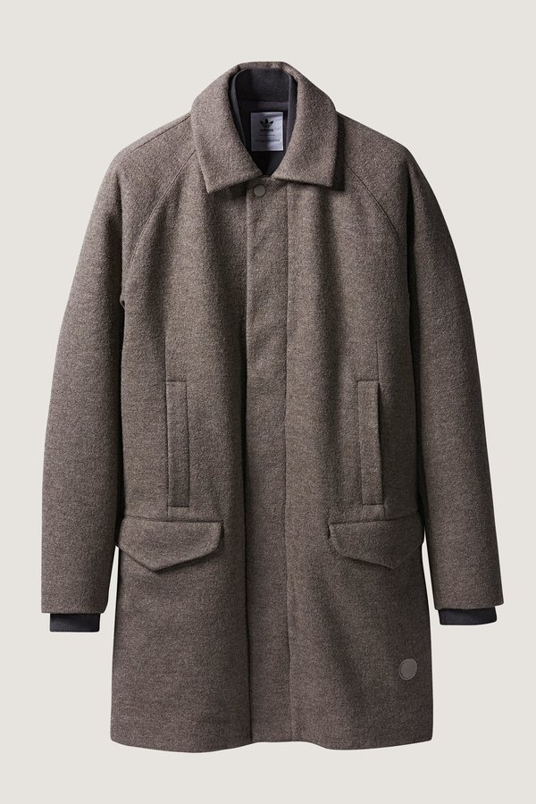 Adidas X Wings + Horns Bonded Wool Mac Coat - Camel