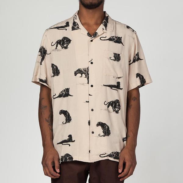 25df6c11d9bb HUF Exotica Short Sleeve Shirt - Beige
