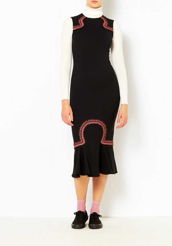 bef8ea667d Opening Ceremony Embroidered Lotus Dress