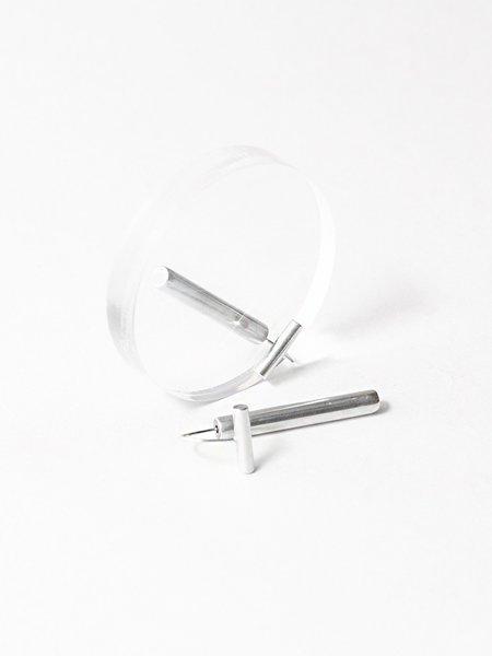 Ladies & Gentlemen Bar Drop Earrings - Sterling Silver