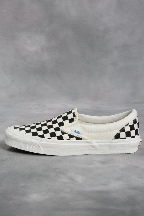 81c6e2f6e6 Vans Vault Black   White Checkerboard OG Classic LX Slip-On