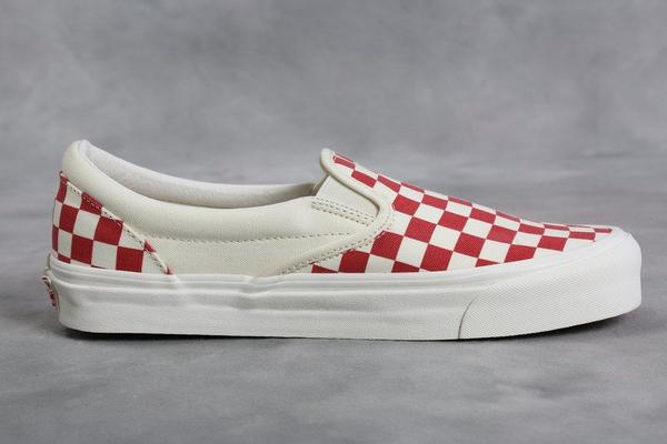 a1b46d919c Vans Vault Red   White Checkerboard OG Classic LX Slip-On. sold out. VANS