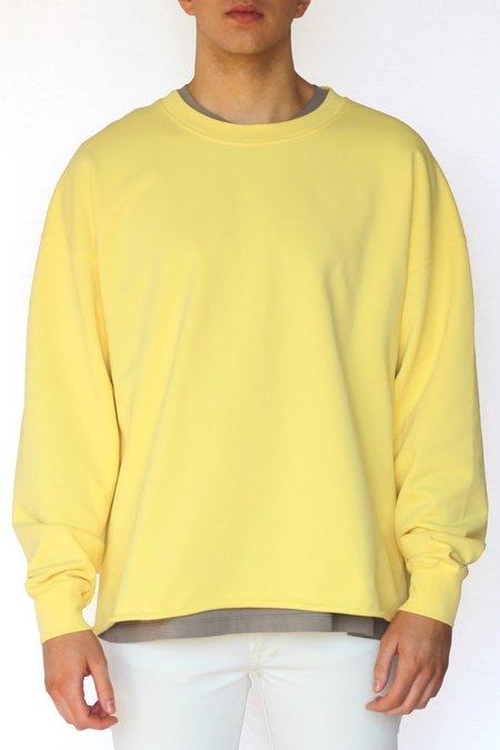 Commun des Mortels Optimist Yellow Oversized Raw-Edge Sweatshirt