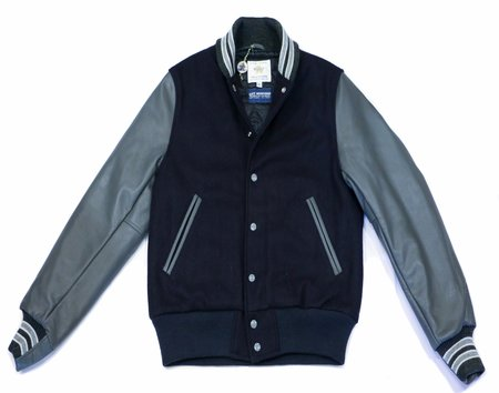 City Workshop Golden Bear Varsity Jacket - Navy/Granite