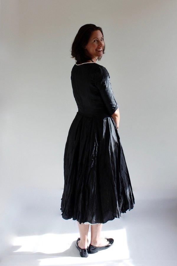 Hazel Brown Taffeta Party Dress