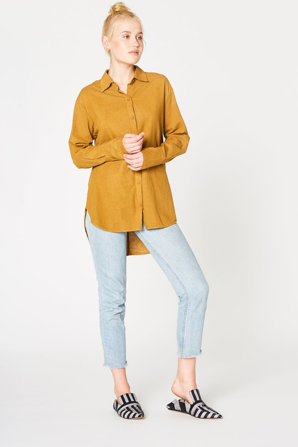 Lacausa Cotton Noil Button Up