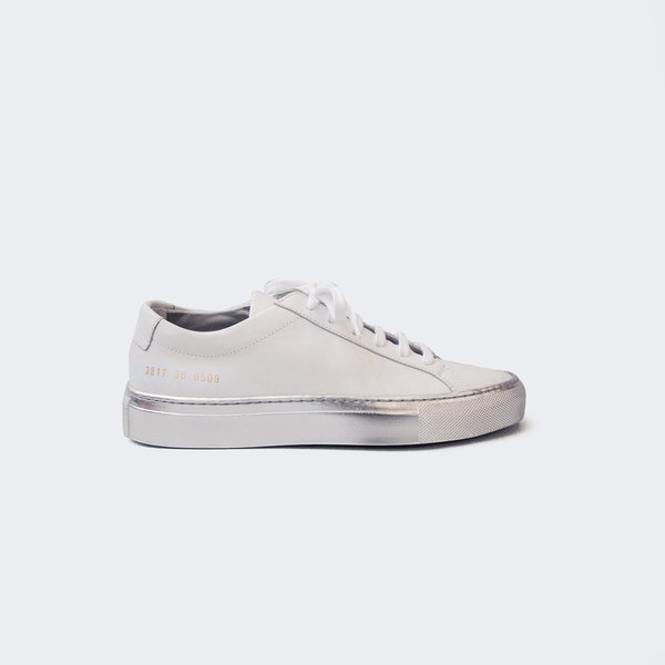 fbce59046b Woman by Common Projects Achilles Low with Colored Sole - White and Silver