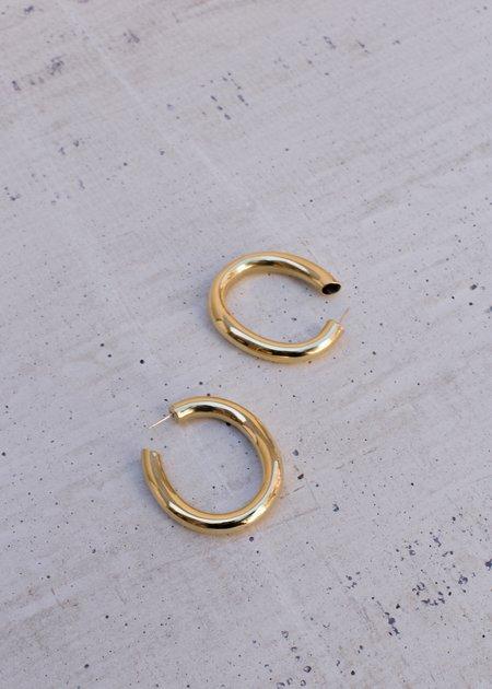 Laura Lombardi Curve Earrings - BRASS
