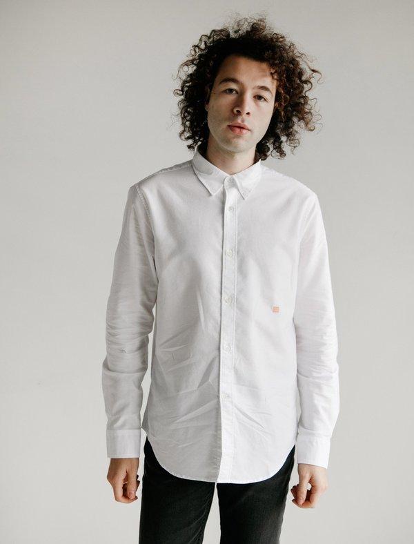 6088b7c6b939 Acne Studios Ohio Face Shirt - Optic White   Garmentory