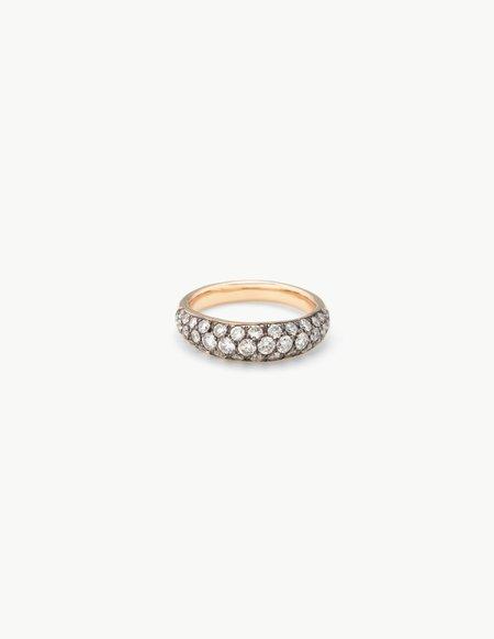 Kathryn Bentley Organic Oval Band with Diamonds