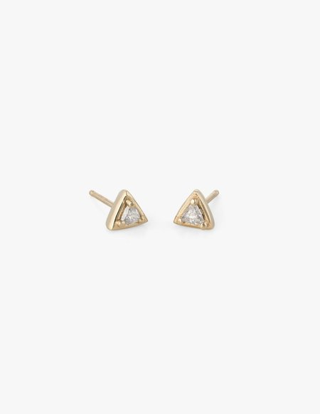 Kathryn Bentley Tiny Diamond Triangle Studs