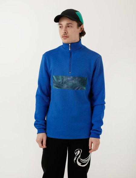 Cottweiler Mens Ghillie Zip Neck - Cobalt