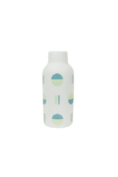 The Granite Bauhaus Bottle Vase - Bright Greens