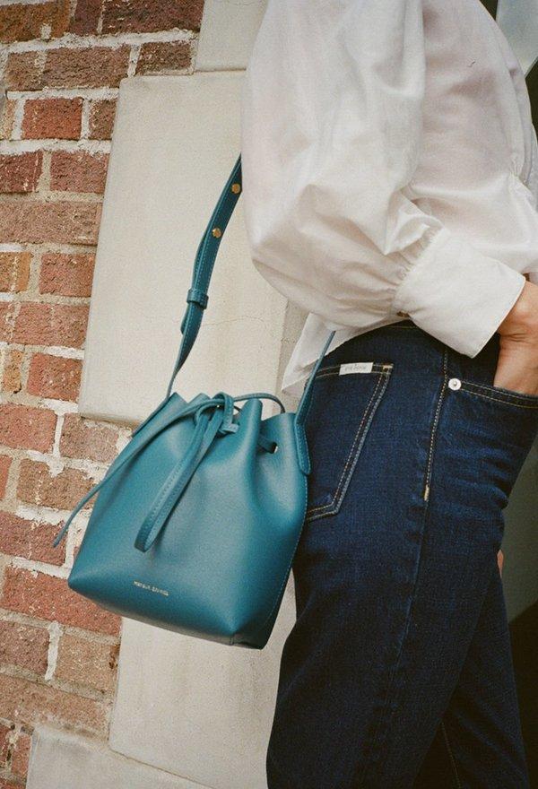 Mini Bucket Bag in Blue Mansur Gavriel Deals Sale Online xKaM4