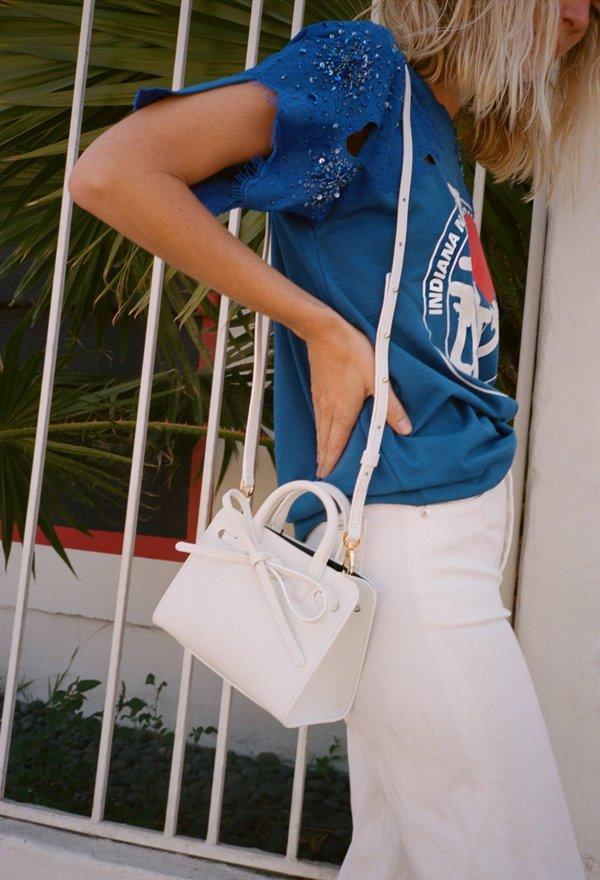 85203395fca75 Mansur Gavriel Mini Mini Sun Bag - White Blu
