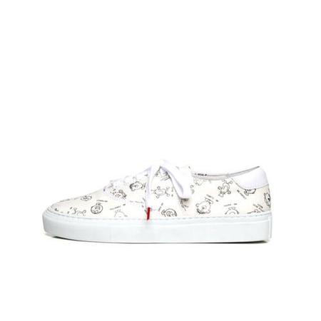 Twins for Peace x Mr. Men Vinci Lowtops - White