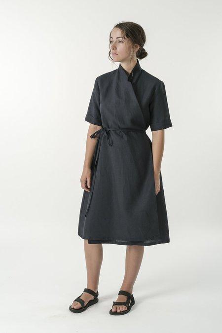 Good Studios Hemp Linen Short Sleeve Wrap Dress