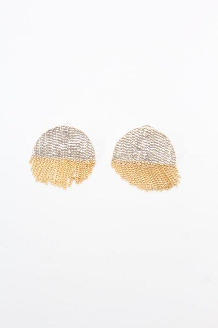 Hannah K Half Circle Stud Earrings