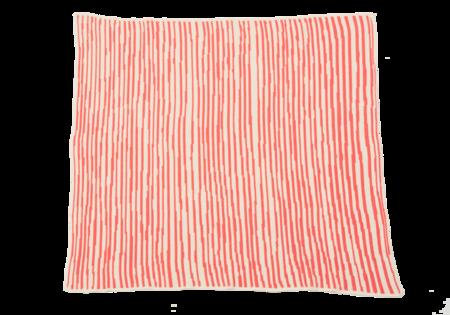 Kids Hillery Sproatt Coral Stripes Blanket