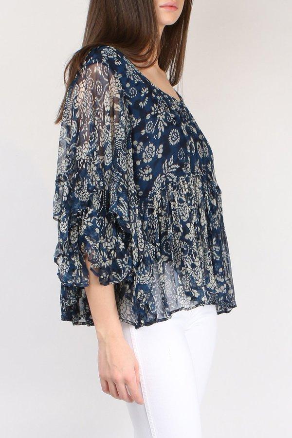 Outlet 100% Guaranteed Buy Cheap For Sale Blue Barito blouse Mes Demoiselles... chU3rTP6