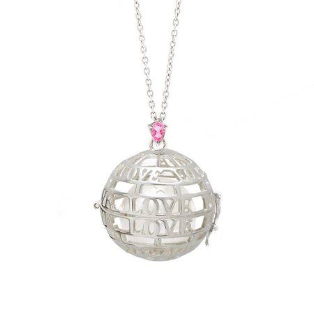 "Goyal Paris Necklace Future Moms ""LOVE"" - Silver/Pink Tourmaline"