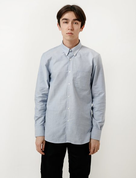 Childs Long Sleeve BC Button Down Oxford Shirt - Blue