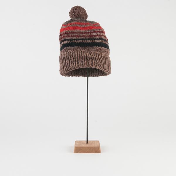 0108d286a14 Chamula Stripe Double Cuff Cap in Brown Multi. sold out