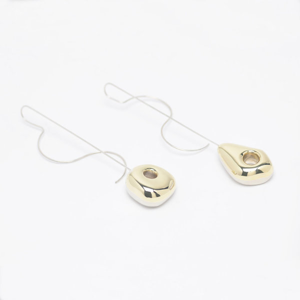 Leigh Miller Jewelry Hepworth Drop White Bronze, Gold-tone And Silver Earrings